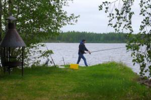 Ich beim angeln.